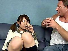 sessão fucky Sucky com uma estudante japonesa