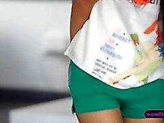 Zierlichen asiatischer schicke Paula Shy Mag Position 69 sowie Doggy