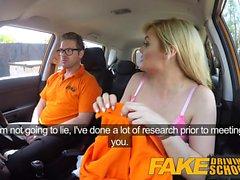 Fake autokoulu Posh povekas blondi tutkijan nussii