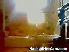 Ei ole niin Smart Blondi Näytelmiä itsensä kanssa Web Cam