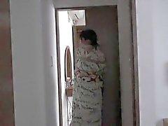 Japon kimono bağlı