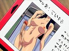 Sexy hentai shemale gets handjob