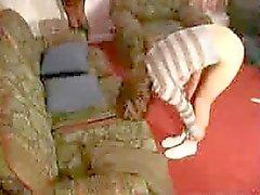 Girl being punished hard
