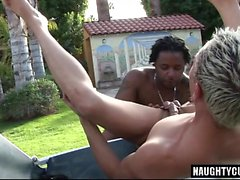 Big dick gay double penetration with cumshot