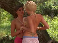 Marley Madelyn fucks Bonnie and Clyde in an outdoor threesome