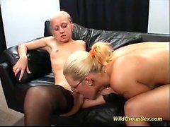 german chicks in real bukkake orgy