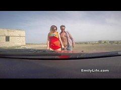 Dogging à la plage avec votre voisin MILF et femme au foyer