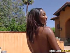 Ebony Daya Knightin Allasbileet Turns Blowjob Orgy