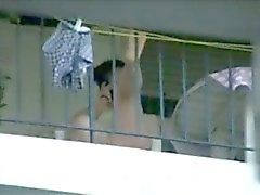 gemischt Balkon balkondaki komsular