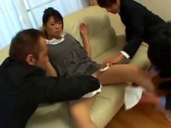 Волосатая азиатская любительская жена трахал