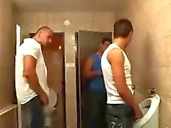 Two Guys Fuck Boy in a Toilet