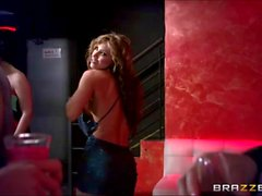 Esperanza Gomez teases a stranger in a night out a
