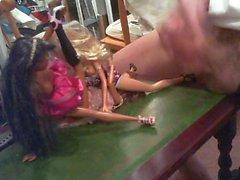 Divertimento con gli le bambole che ho .