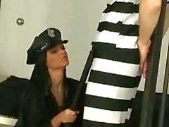 Sexy della funzionario di polizia di Angelika bianco venga uomo di gestita dal galeotto
