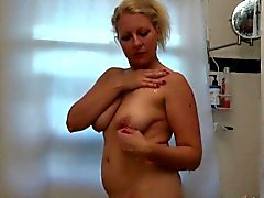 Blonde-haired MILF Zoey Takes a Nice Hot Shower