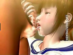 petite 3d hentai chick licking sperm