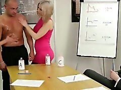 CFNM office ladies tugging cocks