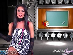 JessicaJaymes - Jessica takes two cocks like a champ at once
