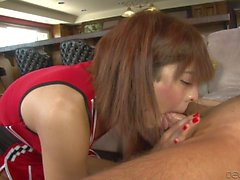 Dicky asian cheerleader Kendra Sinclaire deepthroated
