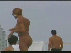 voyeur of amateur sheamle on a beach