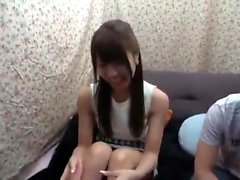 Asain amateur fucked in her hairy Japanese pussy Uncensored