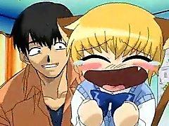 Teini anime Blondy kokemasi haittavaikutus on pillu dildoed