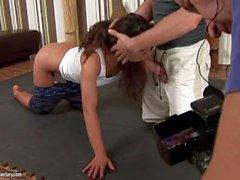 Valentina Canali it en rodaje de una Escena porno