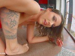 Laura S in gonzo creampie sex scene by All Internal