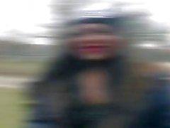 BumsBus - Tedesco Josy nera a cavallo cazzo nel parte posteriore di una furgone