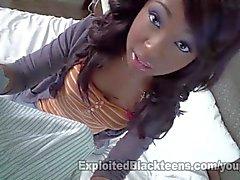 Nera Adolescente Amatoriali w Braces ottiene una Grandi facciale