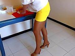 Strumpfhosen und Topuklu Mules Hausfrau