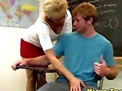 Spex enseignant maturité de traction un bite des étudiants