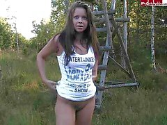 German sweety have fun in the forest