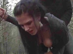 Amateur german Party-Jule fucked hard in forest