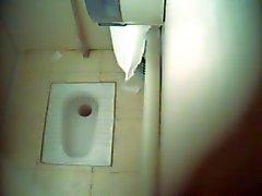 Desi igienici indiano della camma nascosta A Port dell'aria