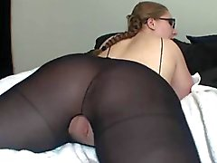Hot Lady In Glasses Shows Off Her Great Ass