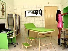 Kinky Nurse Amirah Stuffs Up Her Wet Pussy and Tight Asshole