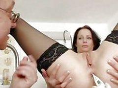 Le grandi natural tits Milf di Sabrina medico di weird chiamata