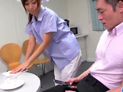 Chihiro Akino first experience with two big cocks - More at