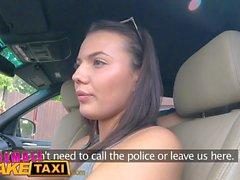 Feminino Falso buceta lambendo Taxi Especialista faz sexy cum piloto checo