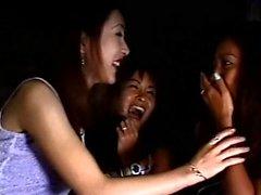 Japanese MILF fingers a naughty lesbian slut