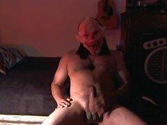 счастливого Хэллоуина!! клоун ада играет со своим членом !!!!