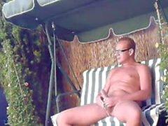 arasi almanca bir erkek bir bahçe DIŞ MEKAN 2'de wanks