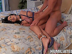 Coarse Sex For The Sexy Breanne Benson Whilst Being Fastened Up