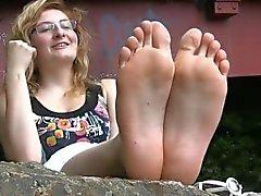Красивые ноги Shy Французский Девичьи