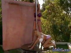 Leanne & Venera pole dance