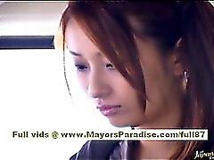 Нао Yoshizaki сексуальность азиатский подростковой в автобус