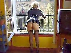 Kinky mature Franse dildo en vuist