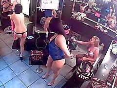 Bir giyinme odada Kamera