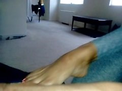 Ebony girl Dominique POV foot worship
